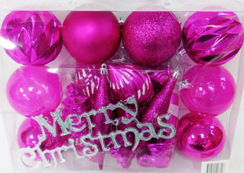 Multi Bauble Hot Pink